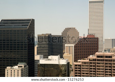 the downtown business district of New Orleans, Louisiana