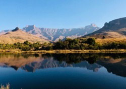 The Drakensberg's Amphitheatre Hike, also called the Tugela Falls Hike, is one of Royal Natal National Park's best hiking trails