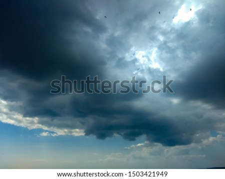 the dramatic cloudy sky scape #1503421949