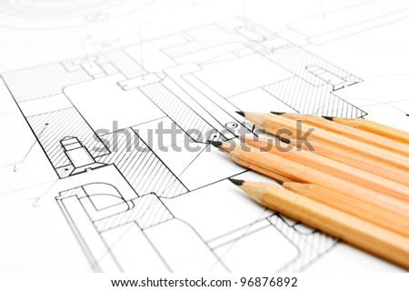 The drawing and pencils.