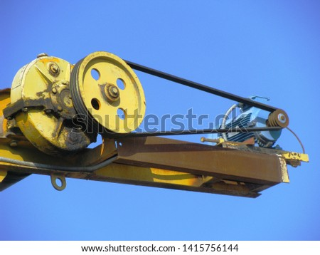 The drive mechanism of the discharge part of the conveyor specialized complex