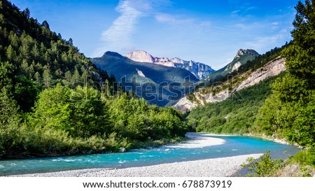 The Drome is a river in southeastern France and is a left tributary of the Rhone. Its source is in the western foothills of the Alps, near the village Valdrome.