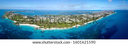 The drone aerial view of Bermuda island Сток-фото ©