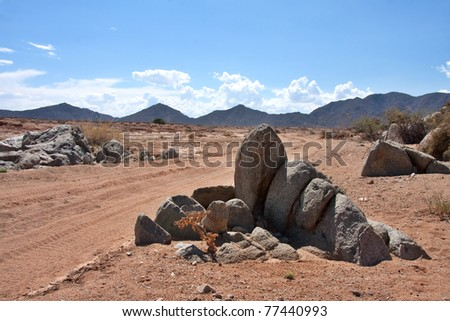 The dry and remote wilderness of the Ai-Ais Richtersveld Transfrontier Park in South Africa