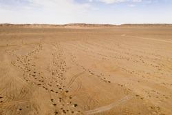 The dry land, vast flat land.
