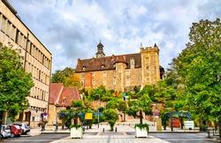 The Dukes of the Bourbon castle in Montlucon - Allier, France