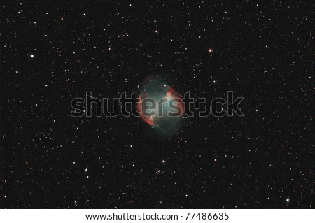 The Dumbbell Nebula Messier 27 (M27, NGC 6853) is perhaps the finest planetary nebula in the sky.