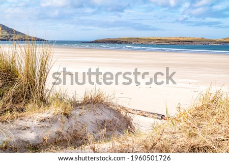 The dunes at Portnoo, Narin, beach in County Donegal, Ireland. Stok fotoğraf ©