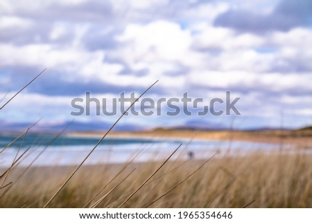 The dunes at Portnoo, Narin, beach in County Donegal, Ireland Stok fotoğraf ©