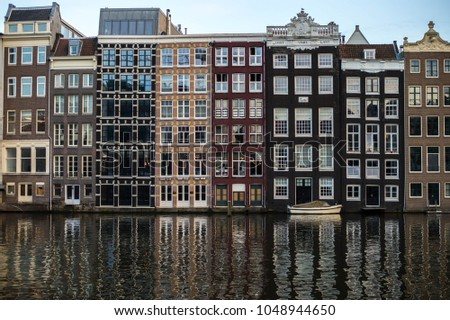 The dutch architecture of Amsterdam, Holland.