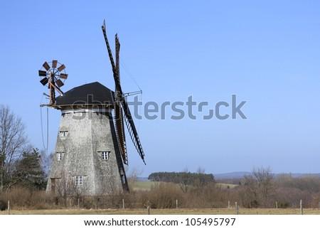 The Dutch windmill in Benz on the island of Usedom, Mecklenburg-Western Pomerania, Germany