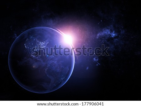 The Earth at Night - Elements of this Image Furnished by NASA