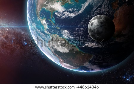 The Earth from space showing all they beauty. Extremely detailed image, including elements furnished by NASA. a