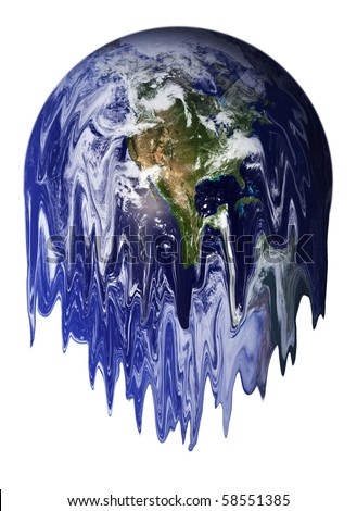 The Earth melting, result of global warming.