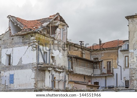 The earthquake of L'Aquila in Italy occurred on 6 April 2009. Even years later, the damages are the still unremoved and have a depressing effect on every visitor