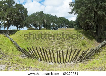 The earthworks at Fort McAllister, Richmond Hills, Georgia.