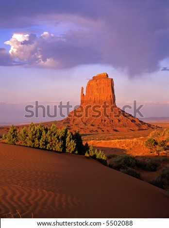 The East Mitten Butte in Monument Valley, Arizona.