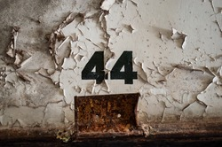 The Eastern State Penitentiary a former American prison in Philadelphia, Pennsylvania was operational from 1829 until 1971. The cell number 44 on the wall.