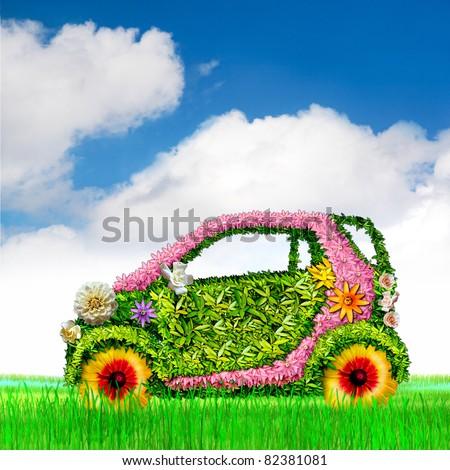 The ecological car. The sky.