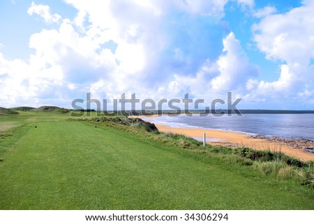 the edge of a links course in ireland