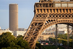 The Eiffel and Montparnasse Towers, Paris, France