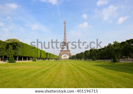 The Eiffel tower in Paris #401196715