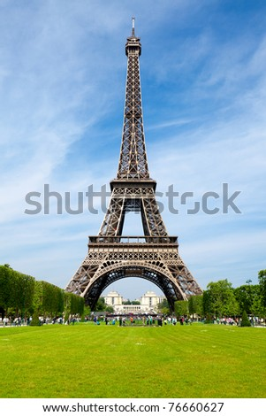 The Eiffel Tower in Paris - stock photo