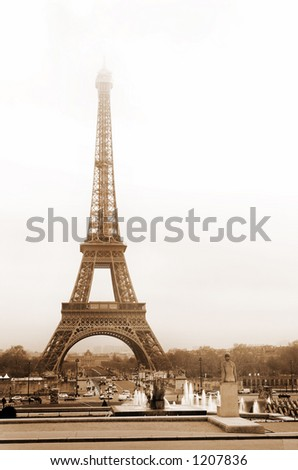 Free Eiffel Tower Picture Sepia on The Famous Eiffel Spring Morning With Eiffel Find Similar Images