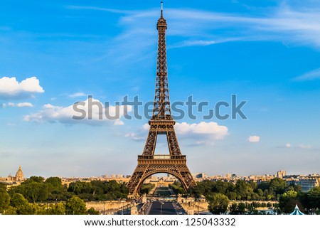 the eiffel tower in the city of Paris in france