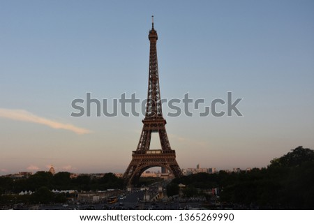 The Eiffel tower is one of the most recognizable landmarks in the world #1365269990
