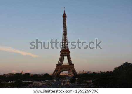 The Eiffel tower is one of the most recognizable landmarks in the world #1365269996