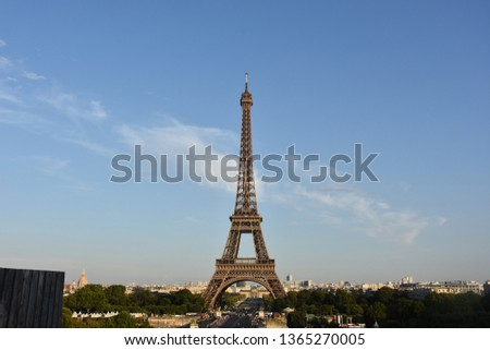 The Eiffel tower is one of the most recognizable landmarks in the world #1365270005