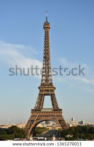 The Eiffel tower is one of the most recognizable landmarks in the world #1365270011