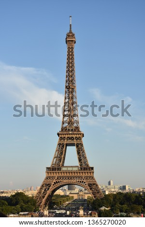 The Eiffel tower is one of the most recognizable landmarks in the world #1365270020