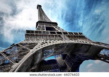 The Eiffel tower is one of the most recognizable landmarks in the world