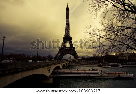 The Eiffel Tower . Paris