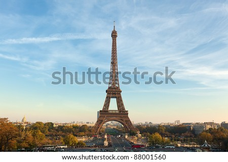 The Eiffel Tower,Paris. Built in 1889, it has become both a global icon of France and one of the most recognizable structures in the world.