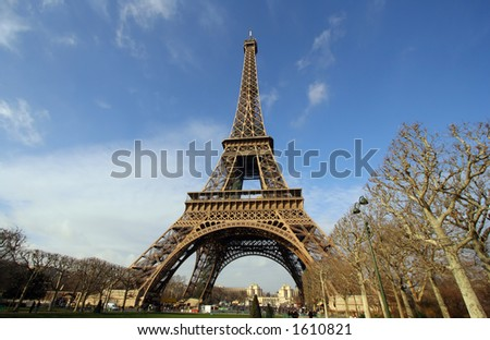 the eiffel tower, paris, france - stock photo