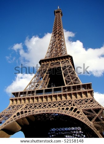 Findpicture  Eiffel Tower on The Eiffel Tower  Paris  France Stock Photo 52158148   Shutterstock