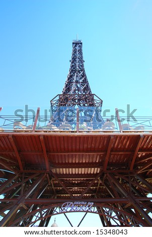 Small Pictures  Eiffel Tower on Stock Photo   The Eiffel Tower View On A Small Scale In Golden Sands