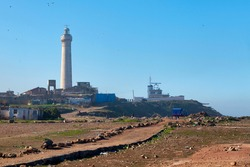 The El Hank lighthouse is a lighthouse located on cap El Hank, west of the port of Casablanca (Casablanca-Settat region - Morocco).