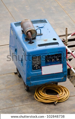 the electric generator at worksite