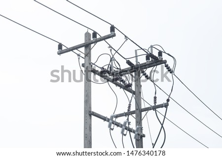 The electric pole and electric transformer