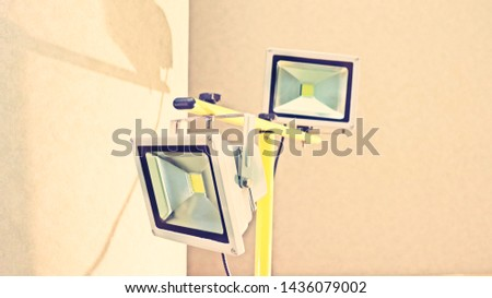 The electronic light in studio for take photo
