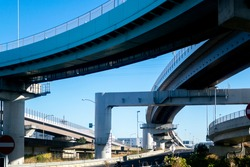 The elevated highway is a grade separation