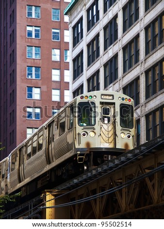 The Elevated Train  in Chicago