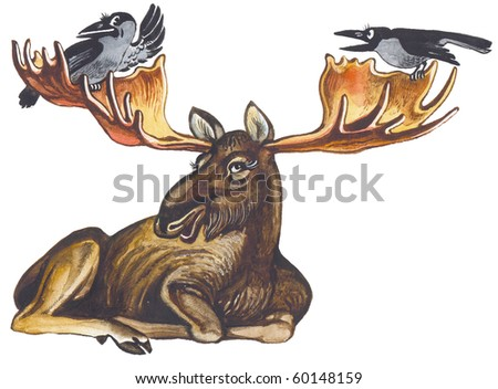 The elk (moose) the greatest deer in the World