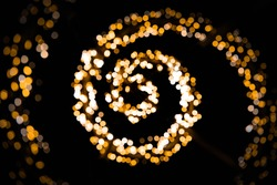 The ellipse of christmas lights.
