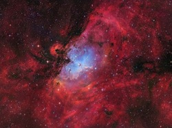 The emission nebula Messier 16 or the Eagle Nebula with the famous Pillars of Creation