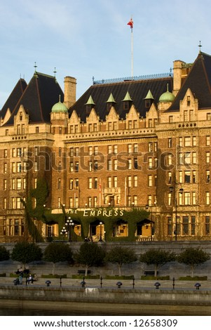 The Empress hotel - major tourist landmark in Victoria, British Columbia